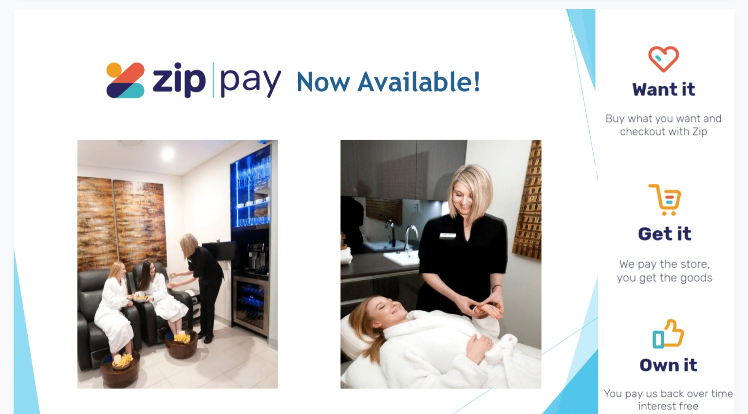 ZIP PAY is now available at Simply Elegant
