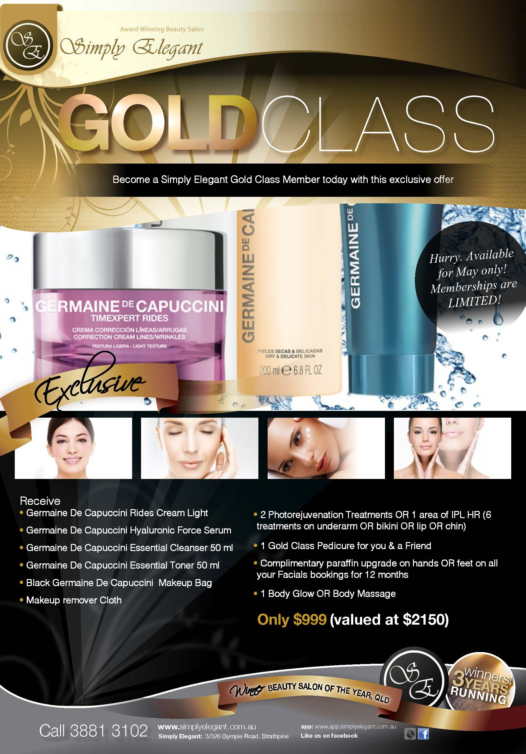 Gold Class Exclusive Offer!