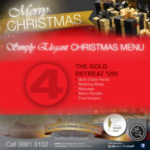 Simply Elegant images for videos - Christmas packages - 7 gold retreat