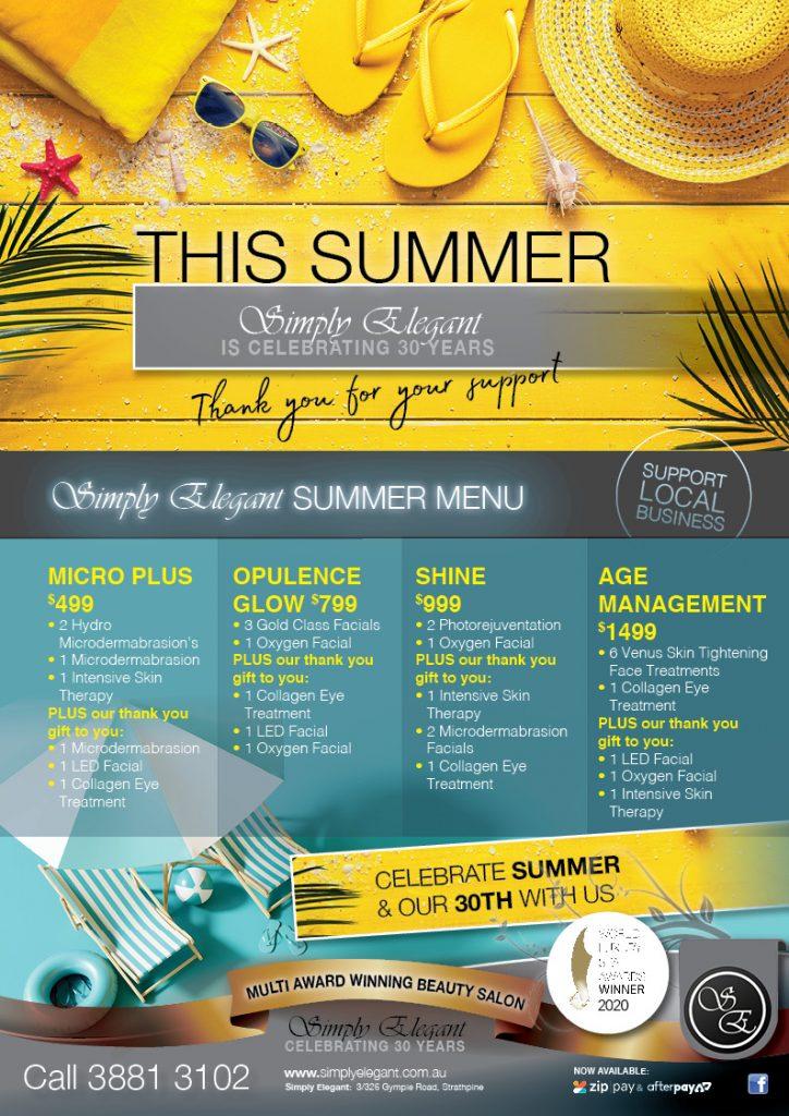 web - Simply Elegant A4 Poster - Summer 1 2020