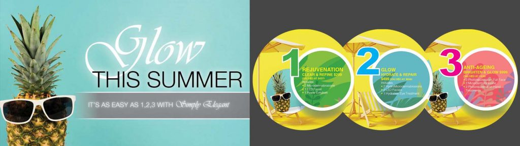 Simply Elegant images for web promo - Glow This Summer - image strip