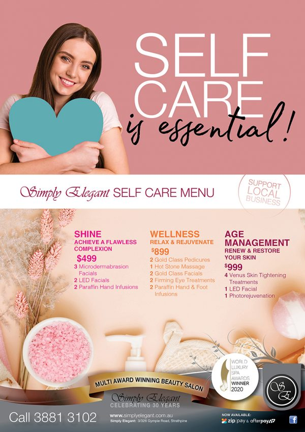 web - Simply Elegant A4 Poster - Selfcare Promo - March 2021 v2